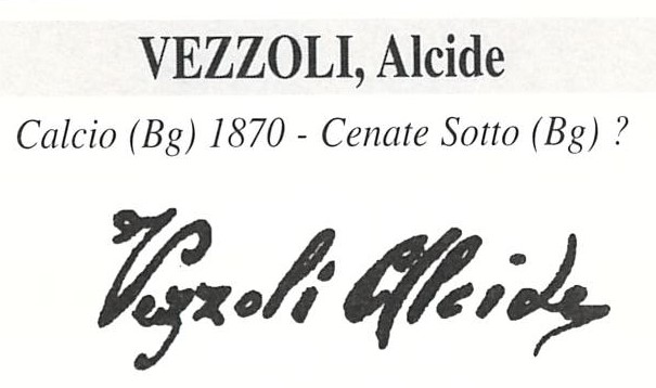 Vezzoli Alcide1870 – 1919