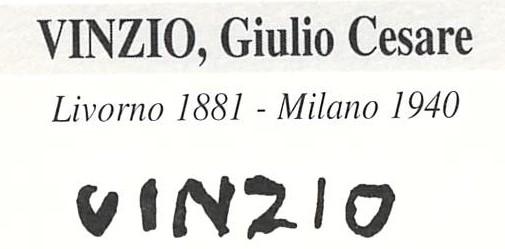 Vinzio Giulio Cesare 1881 – 1940