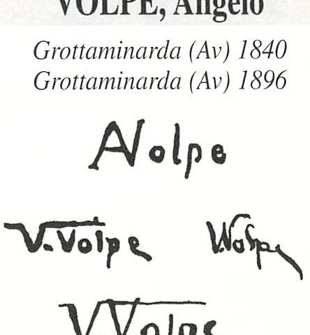 Volpe Angelo 1838 – 1894