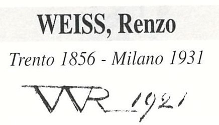 Weiss Renzo 1856 – 1911