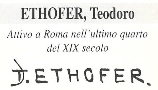 Ethofer Theodor Josef 1849 – 1915