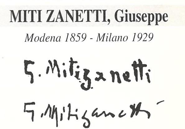 Miti Zanetti Giuseppe 1859 – 1929