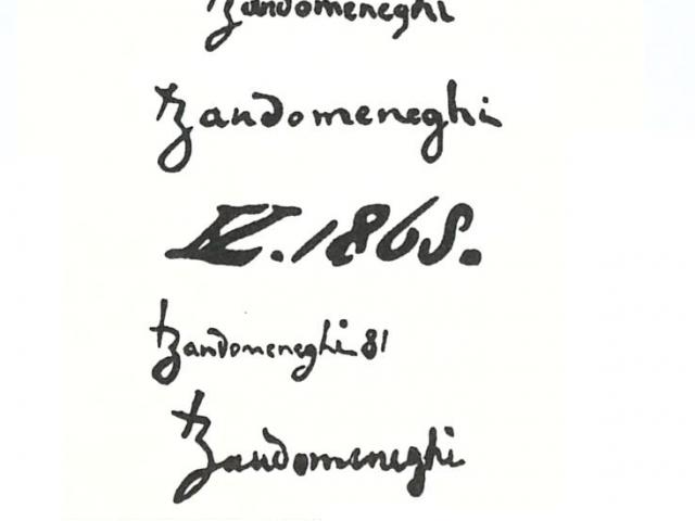 Zandomeneghi Federico 1841 – 1917