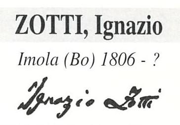 Zotti Ignazio 1806 – 1865