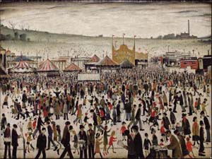 """ARTE INGLESE DEL XX SECOLO (Inclusi """"Good Friday, Daisy Nook """" e 5 dipinti di L.S. Lowry"""