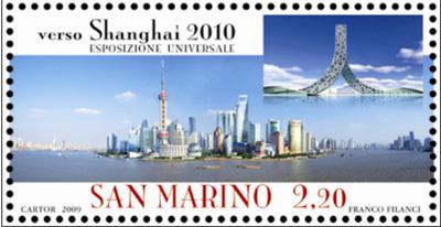 VERSO SHANGHAI 2010- francobolli