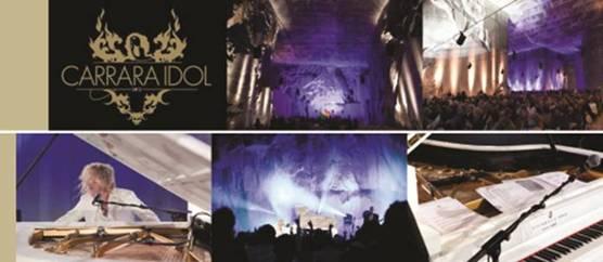 Carrara – Grande successo per il concerto per pianoforte di marmo di David Bryan