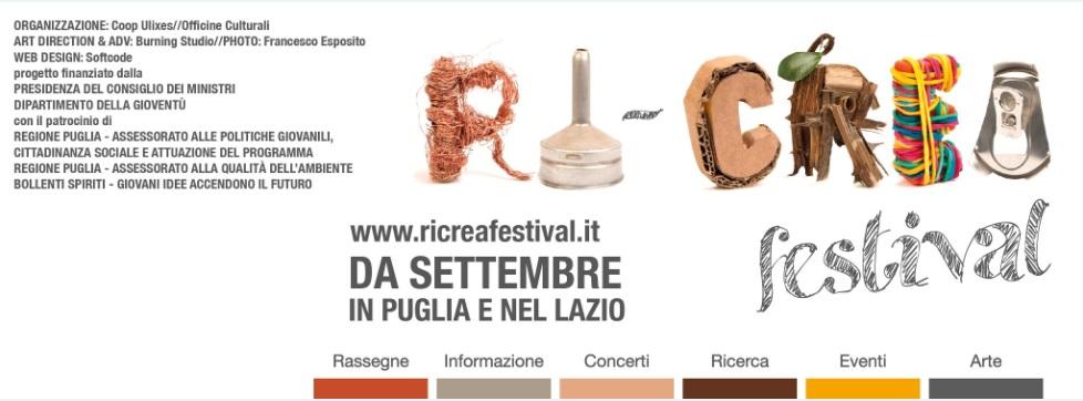 """Concorso artistico nazionale """"RI-CREA Festival"""""""