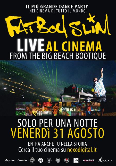 FATBOY SLIM Live – solo per una notte al cinema il 31 agosto