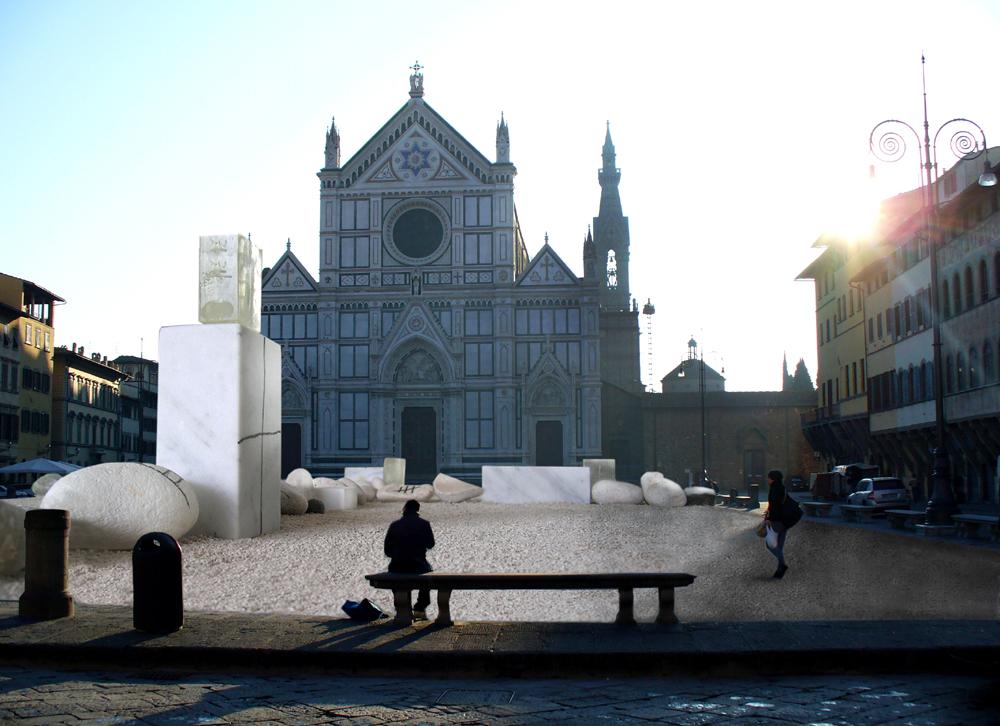Monumentale installazione di Mimmo Paladino per Florens2012