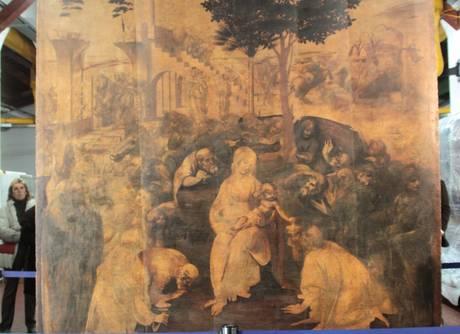 """Firenze – Restauro per l' """"Adorazione"""" di Leonardo"""