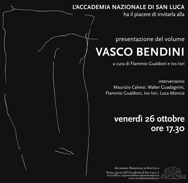 Accademia Nazionale di San Luca: Presentazione volume Vasco Bendini