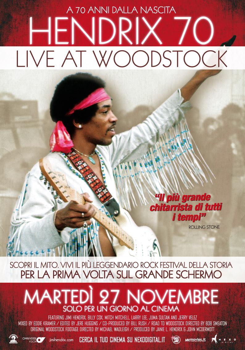 Hendrix 70: Live at Woodstock al cinema solo per un giorno