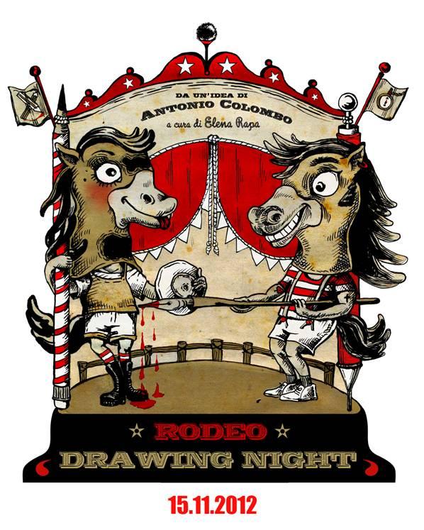 RODEO DRAWING NIGHT, 17 artisti disegnano in diretta