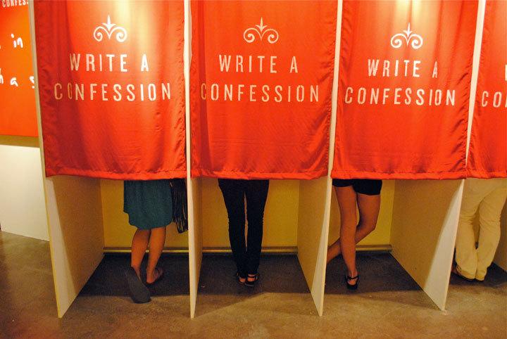 Confessioni segrete diventano una mostra