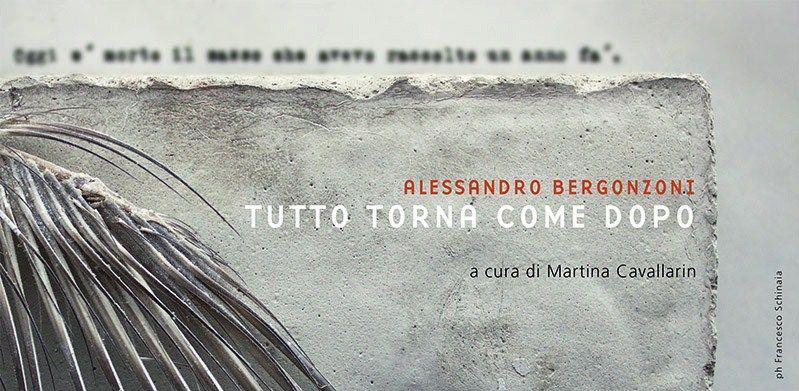 """Alessandro Bergonzoni in mostra con """"Tutto torna come dopo"""""""