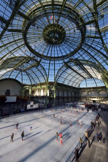 Parigi –  Grand Palais: pista del ghiaccio da record