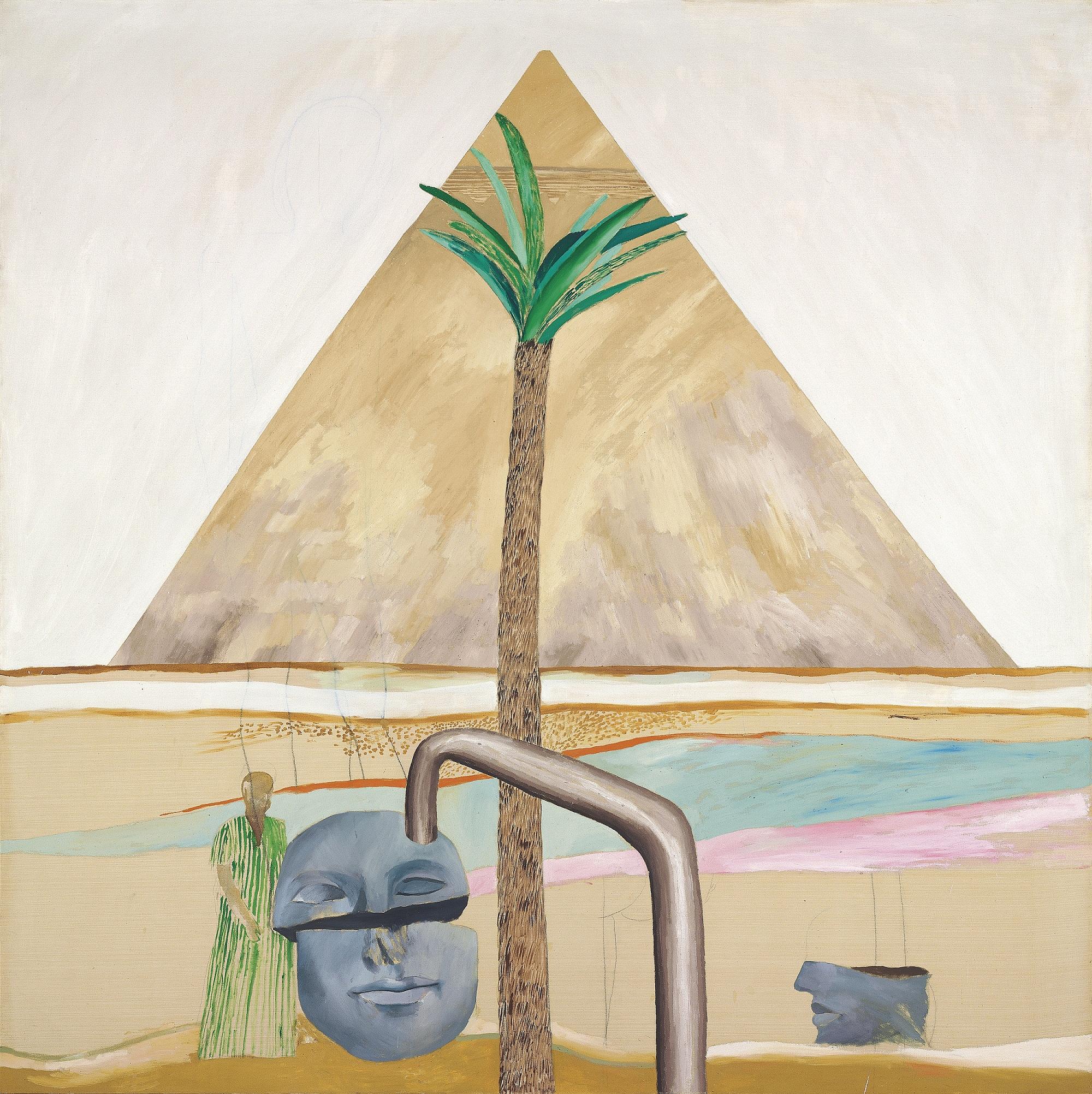 Un paesaggio egiziano di Hockney in asta da Christie's