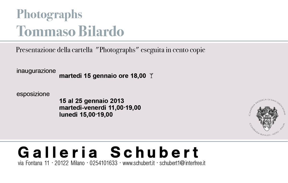 "Galleria Schubert presenta Tommaso Bilardo con ""Photographs"""