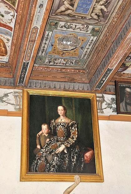 Cade affresco alla Galleria degli Uffizi a Firenze