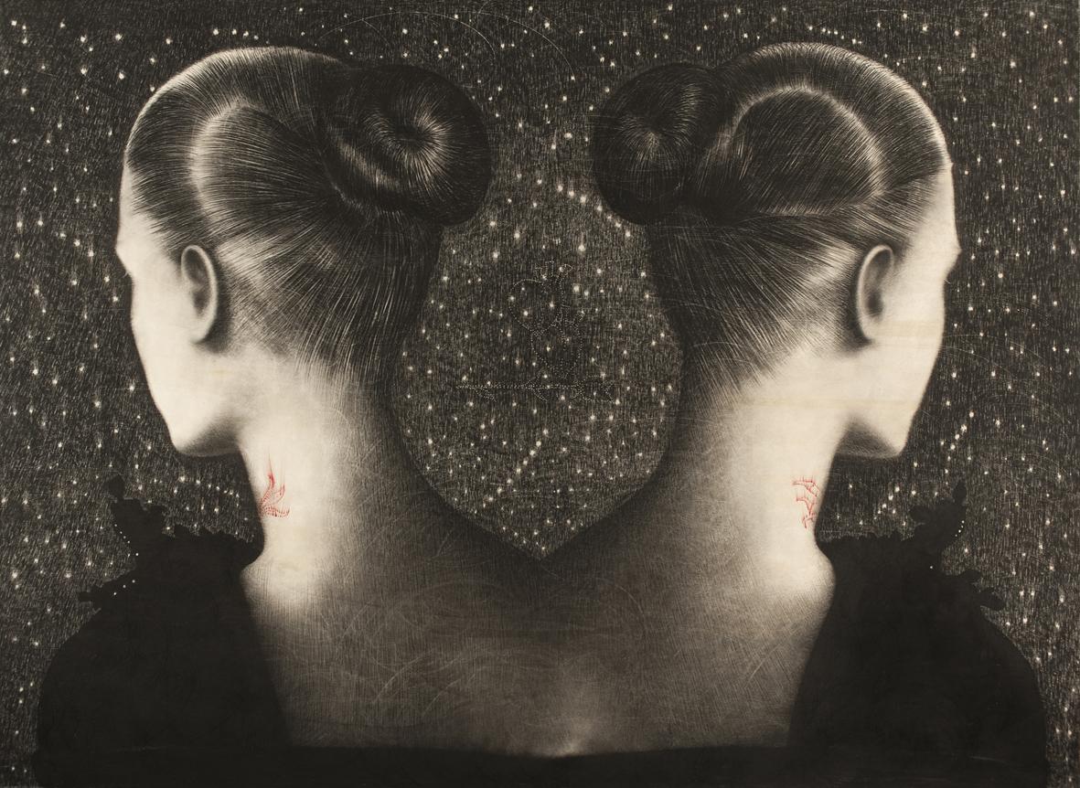 """Omar Galliani con """"Liberare gli angeli"""" alla Galleria Bonioni Arte"""