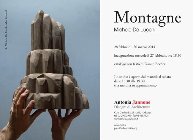"""Michele De Lucchi con """"MONTAGNE"""" da Antonia Jannone"""