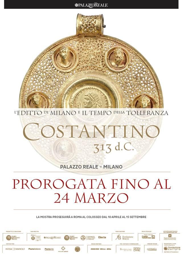 Proroga della mostra Costantino 313 d.c.