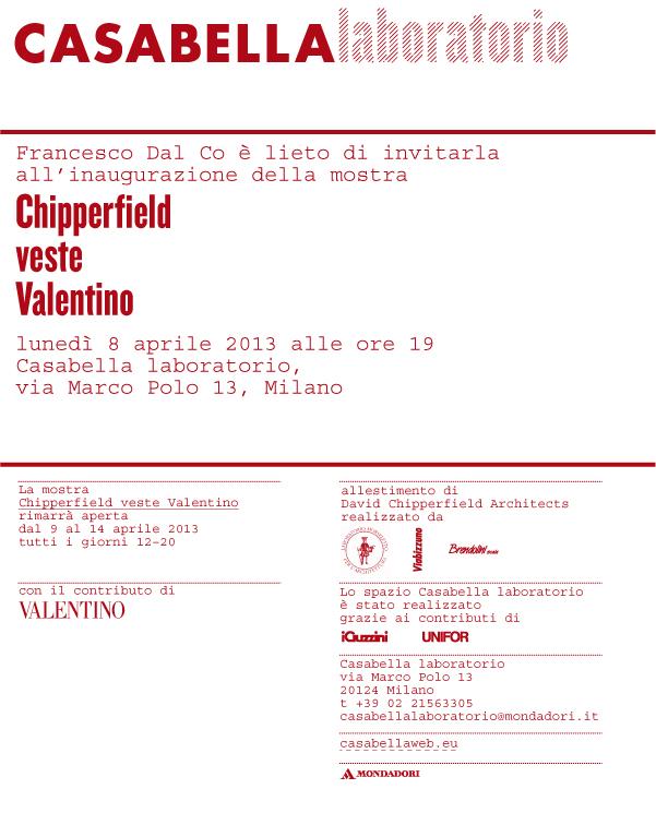 Chipperfield veste Valentino