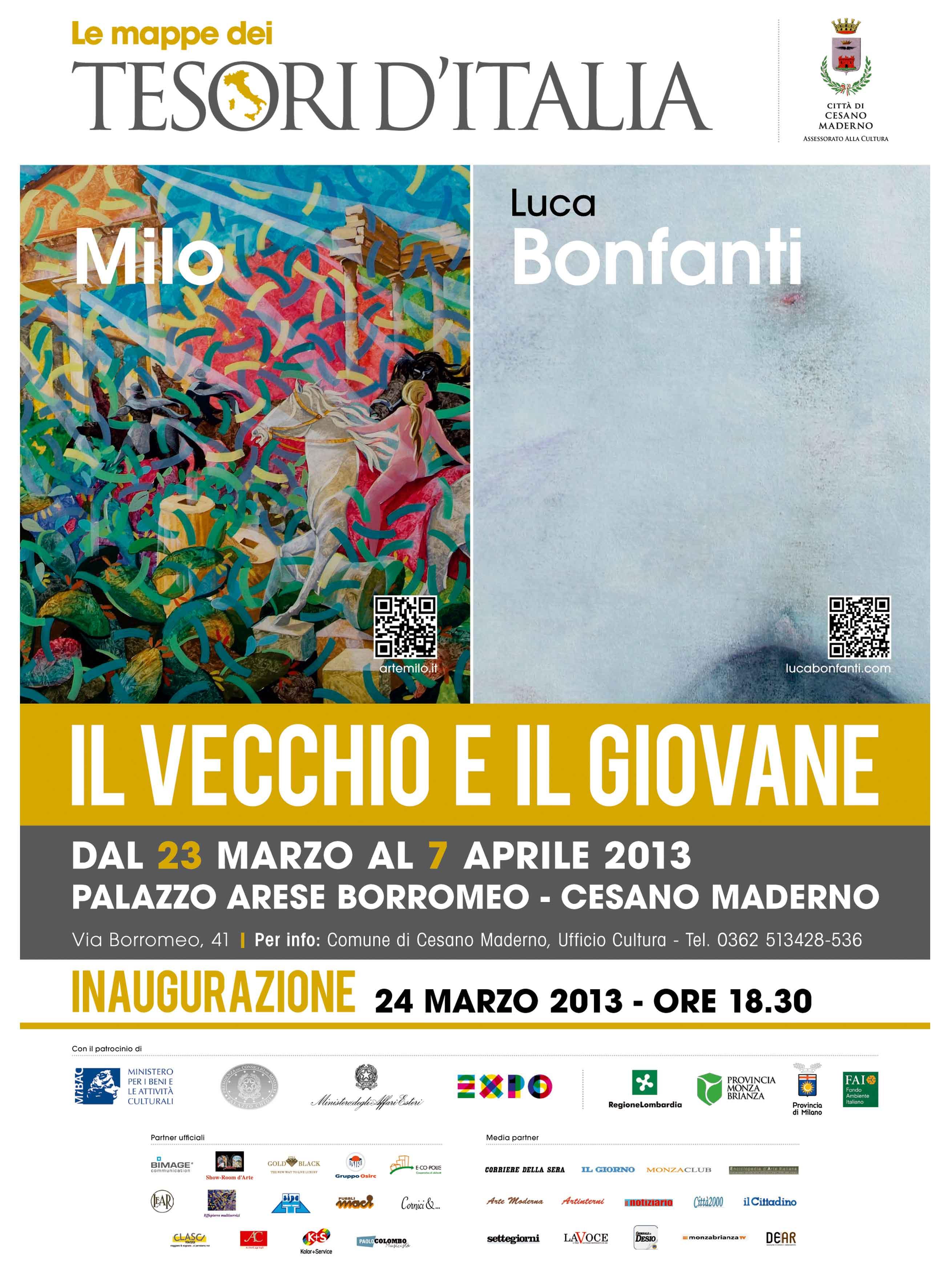 50 opere d'arte di Milo Lombardo e Luca Bonfanti a Milano