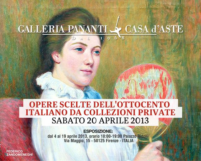 Inaugurata la mostra sull'ottocento prima dell'asta da Pananti