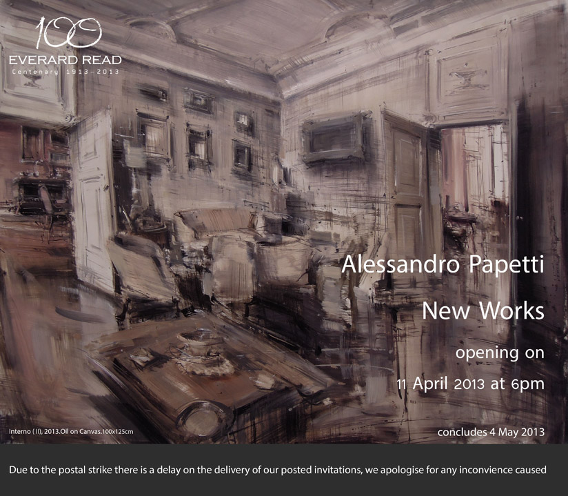 """""""Alessandro Papetti. New works"""" alla Everard Read Gallery di Johannesburg"""