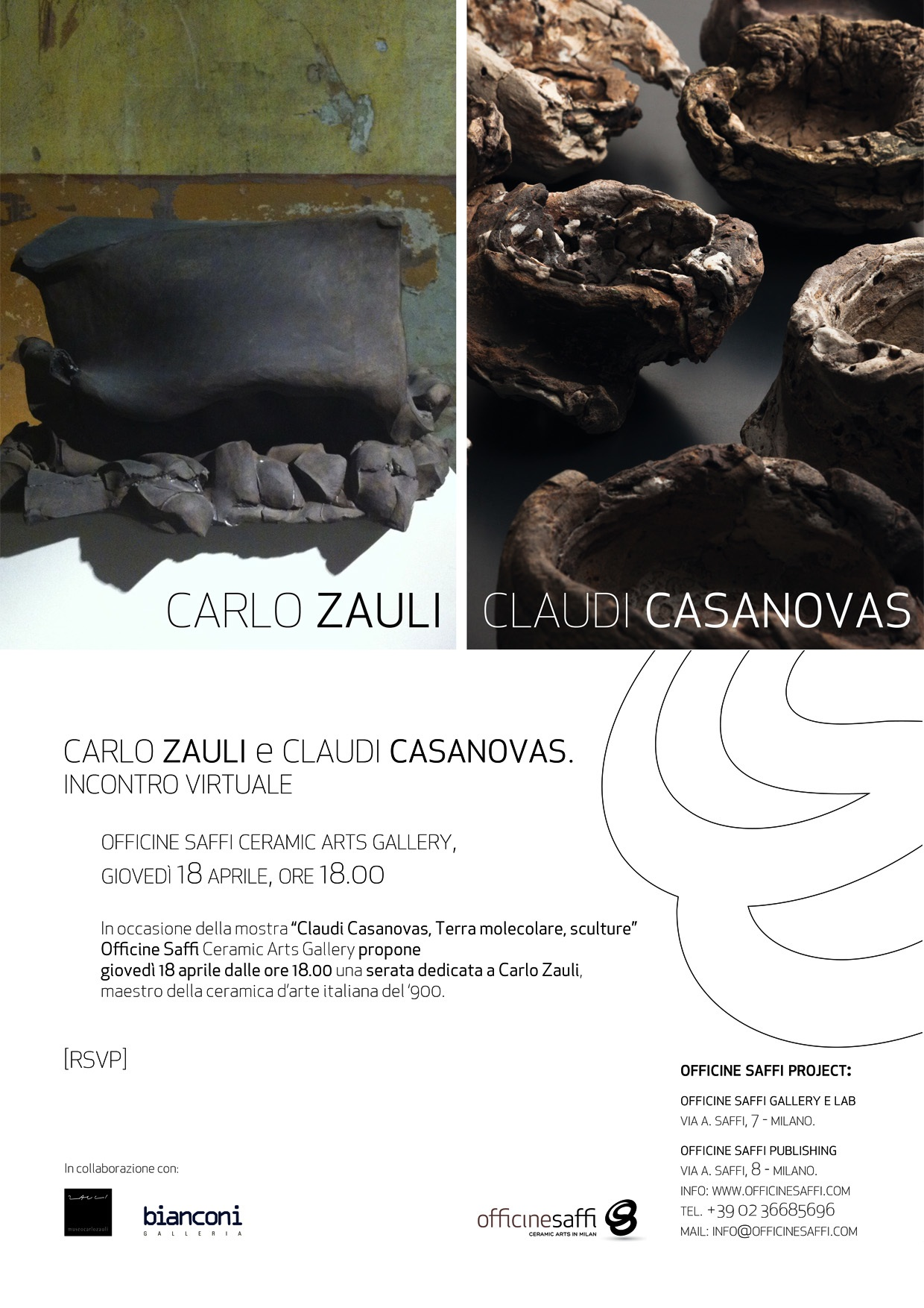 Incontro virtuale alle Officine Saffi Ceramic Arts Gallery