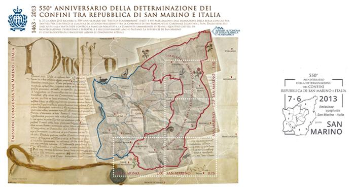 550° Anniversario della determinazione dei confini tra Repubblica di San Marino e Italia