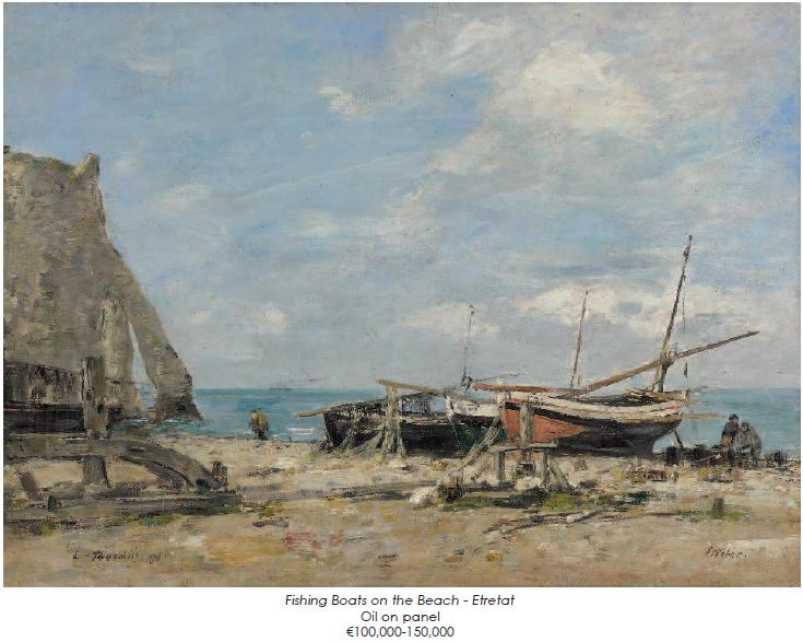 17 opere di Boudin in vendita da Artcurial