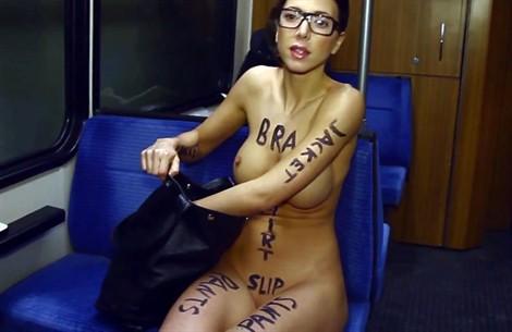 Questa modella nuda è arte (a Dusseldorf)