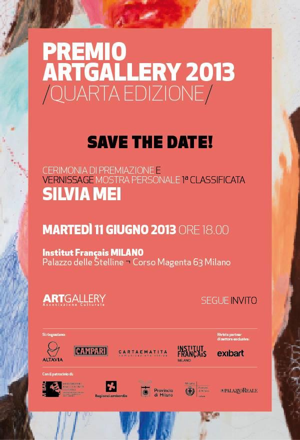 Premio ArtGallery 2013: premiazione 11 giugno