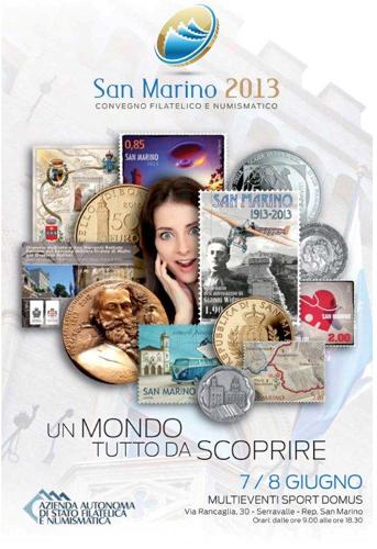 Convegno Filatelico Numismatico SAN MARINO 2013