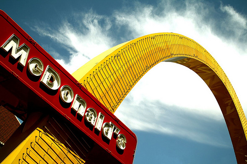 Un boccone futuristico da McDonald's