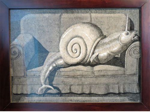 Domenico Gnoli – Snail on Sofa, dalla serie What is a monster? (1967)