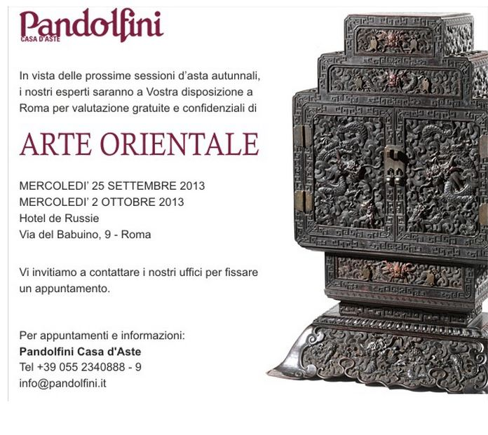Giornate di expertise di Arte Orientale a Roma per Pandolfini