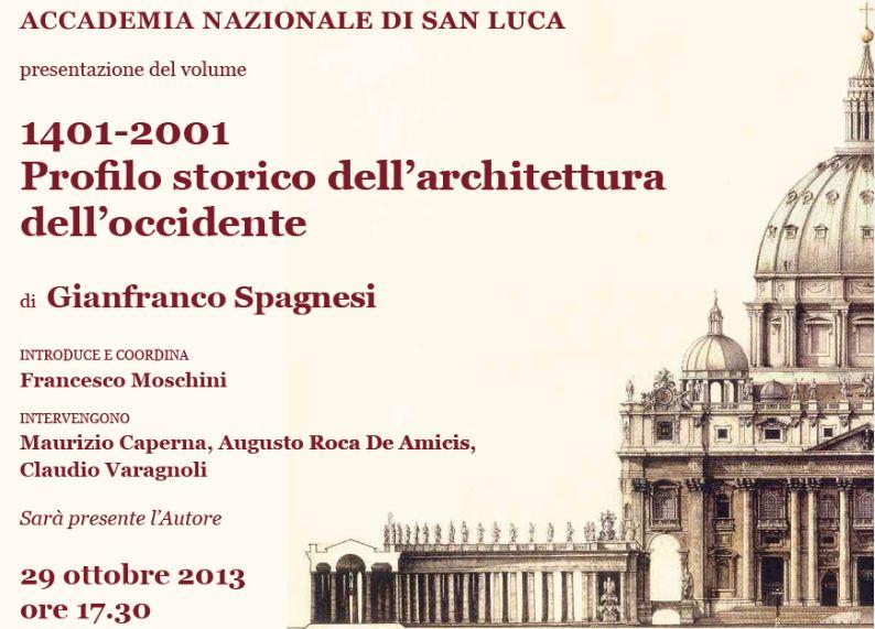 Roma – Presentazione volume sull'architettura di Gianfranco Spagnesi
