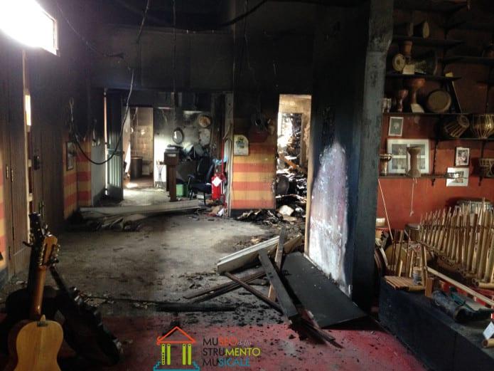 Incendio al museo degli strumenti musicali di Reggio Calabria