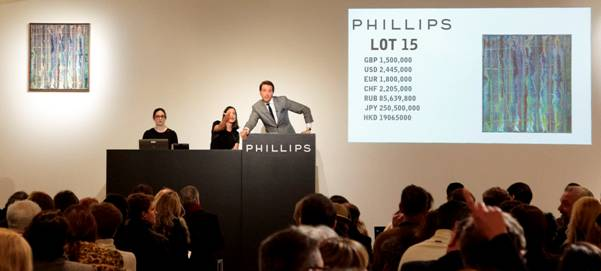 Totalizza £10milioni la Contemporary Auction da Phillips