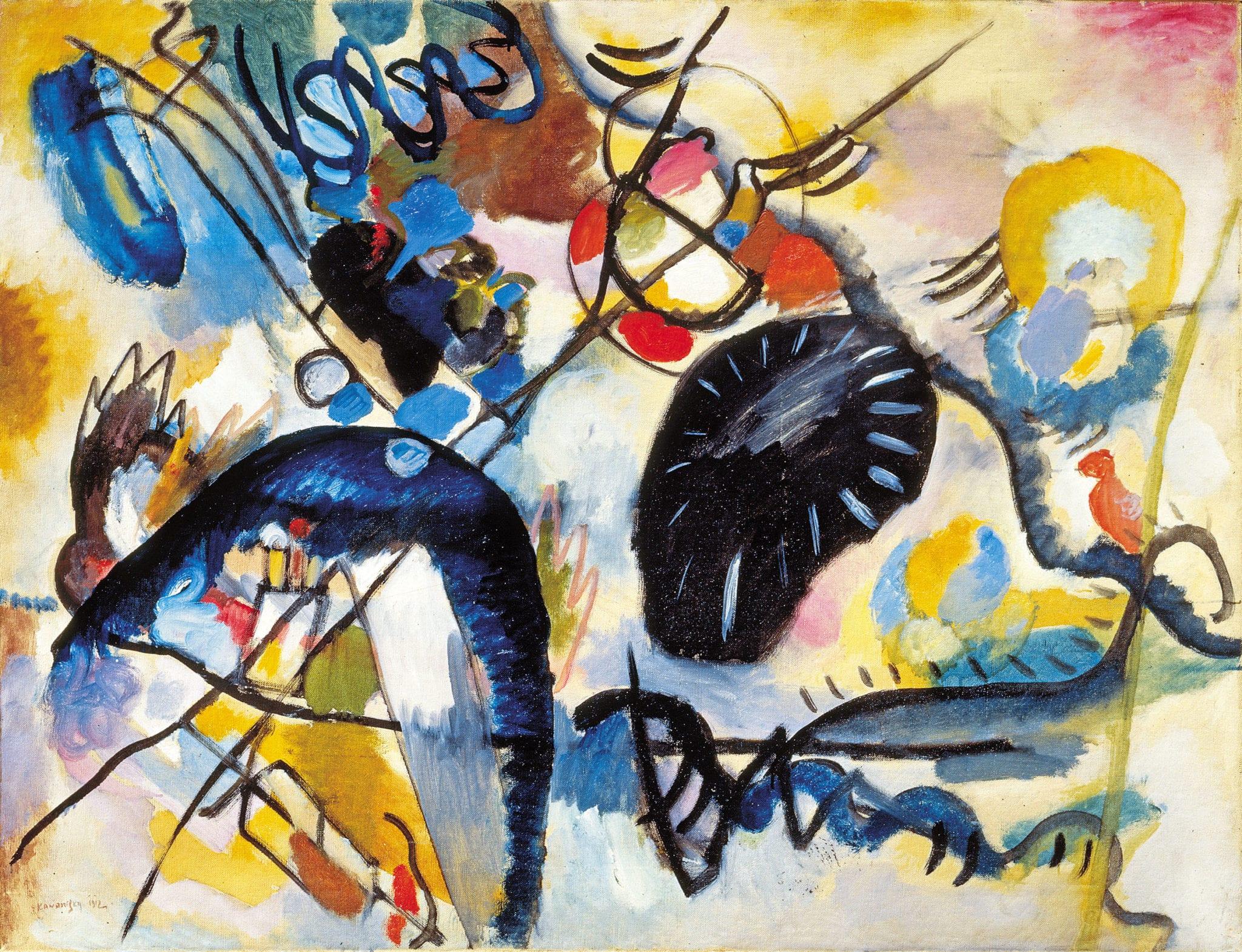 Wassily Kandinsky, Macchia nera I, 1912