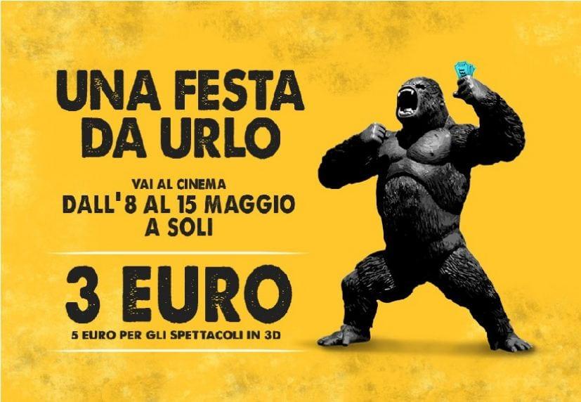 Torna la Festa Del Cinema  dall'8 al 15 maggio nelle sale di tutta Italia