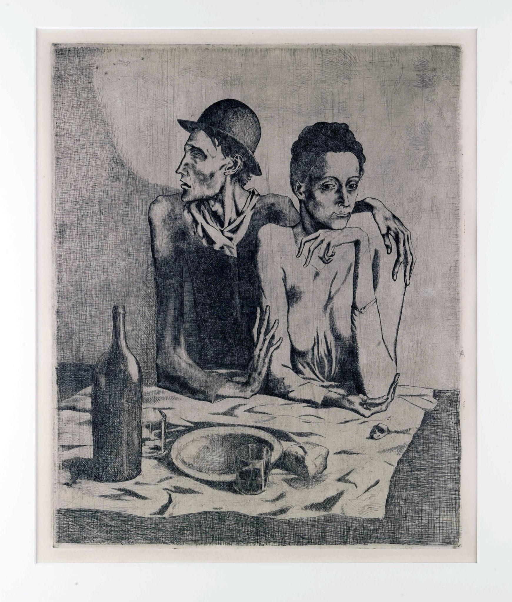 Le repas frugal, 1904, acquaforte, mm 463x377