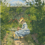 LOT 18 PROPERTY FROM A DISTINGUISHED PRIVATE COLLECTION CAMILLE PISSARRO 1831 - 1903 JEANNE PISSARRO (DITE MINETTE) ASSISE AU JARDIN, PONTOISE stamped with initials C.P. (lower left) oil on canvas 73 by 60cm. 28 by 23in. Painted circa 1872. Estimate 1,500,000 — 2,500,000 GBP Price realized: