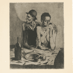 LOT 24 THE PROPERTY OF AN IMPORTANT PRIVATE EUROPEAN COLLECTOR PABLO PICASSO 1881 - 1973 LE REPAS FRUGAL etching with grattoir, 1904, an extremely fine impression with burr and plate tone, inscribed Epreuve avant aciérage by Henri Petiet, printed before the plate was steel-faced in 1913, probably by Louis Fort, on wove paper plate: 46 by 37.8cm.; 18 1/4 by 14 7/8 in. sheet: 65.2 by 50.2cm.; 25 5/8 by 19 3/4 in. Estimate 800,000 — 1,200,000 GBP Price realized: