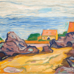 LOT 33 PROPERTY FROM A PRIVATE SCANDINAVIAN COLLECTION EDVARD MUNCH 1863 - 1944 HUS I BORRE (HOUSE IN BORRE) signed E. Munch (lower right) oil on canvas 65.7 by 80.6cm. 25 7/8 by 31 3/4 in. Painted in 1904-1905. Estimate 600,000 — 800,000 GBP Price realized:
