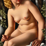 LOT 34 PROPERTY FROM A PRIVATE AMERICAN COLLECTION TAMARA DE LEMPICKA 1898 - 1980 SUZANNE AU BAIN signed De Lempicka (lower right) oil on canvas 92.5 by 58.5cm. 36 3/8 by 23in. Painted circa 1938. Estimate 1,600,000 — 2,000,000 GBP Price realized: